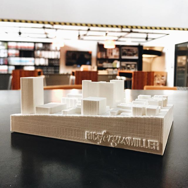 We are building context models for clients today. 3D printing at RFM!  #ricefergusmiller #architecture #interiordesign #planning #vizlab #graphicdesign #design #pnw #pacificnorthwest #bremerton #seattle #kitsapconnected #washington #pnwphotography #commun
