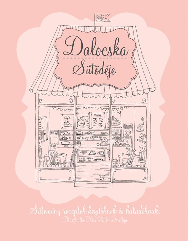 Dalocska's bakery – Illustrated recipe book on Behance Cover