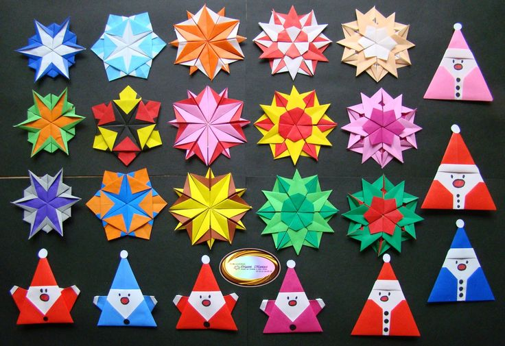 Different Kinds of Origami Snowflakes for Christmas