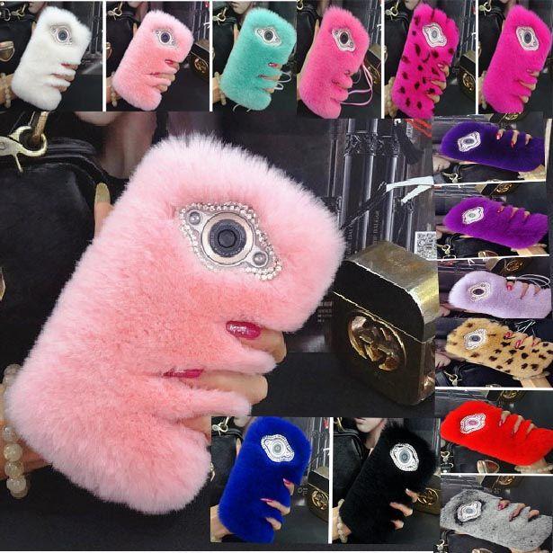 Меховой чехол для Lenovo K920 крышка элитная кролик волосы шику принципиально коке капа розовый пушистый леди телефон чехол для Lenovo K920 6  + подарок