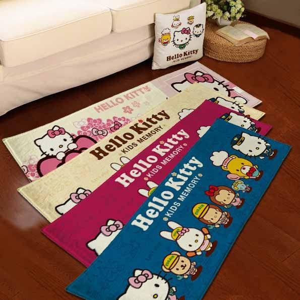 Коврики антипробуксовочная коврик творческий милый кот привет китти серии набивным рисунком ковер коврик для двери ванной гостиной