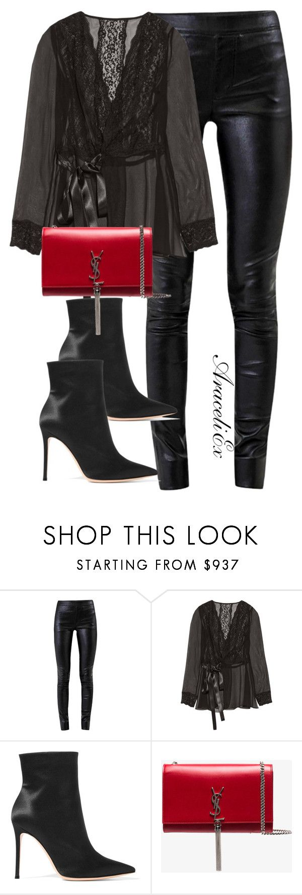"""""""HER"""" by aramarescobar ❤ liked on Polyvore featuring Helmut Lang, Dolce&Gabbana, Gianvito Rossi and Yves Saint Laurent"""