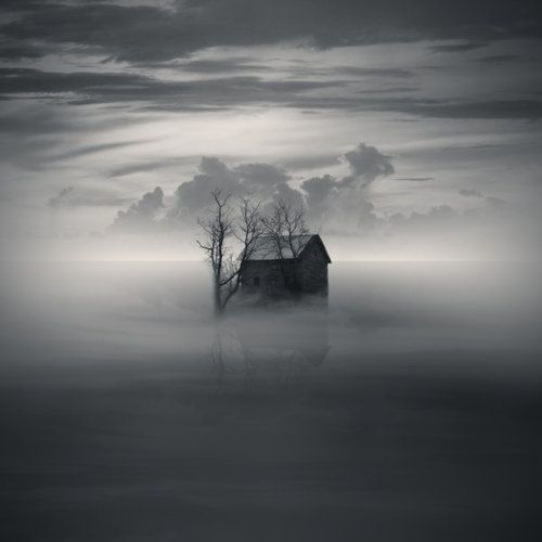 The Lone House - Black & White Photography