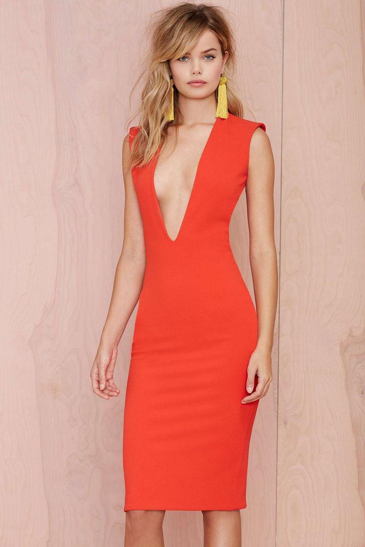 Solace London Grace Knee Length Dress | Shop Dresses at Nasty Gal