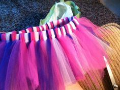 How to make a runner's tutu. I want to make one that is purple and gold for the color my college run in October!
