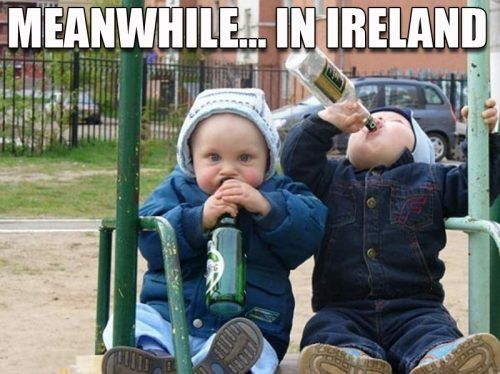 If only I had some Irish friends to share this with...