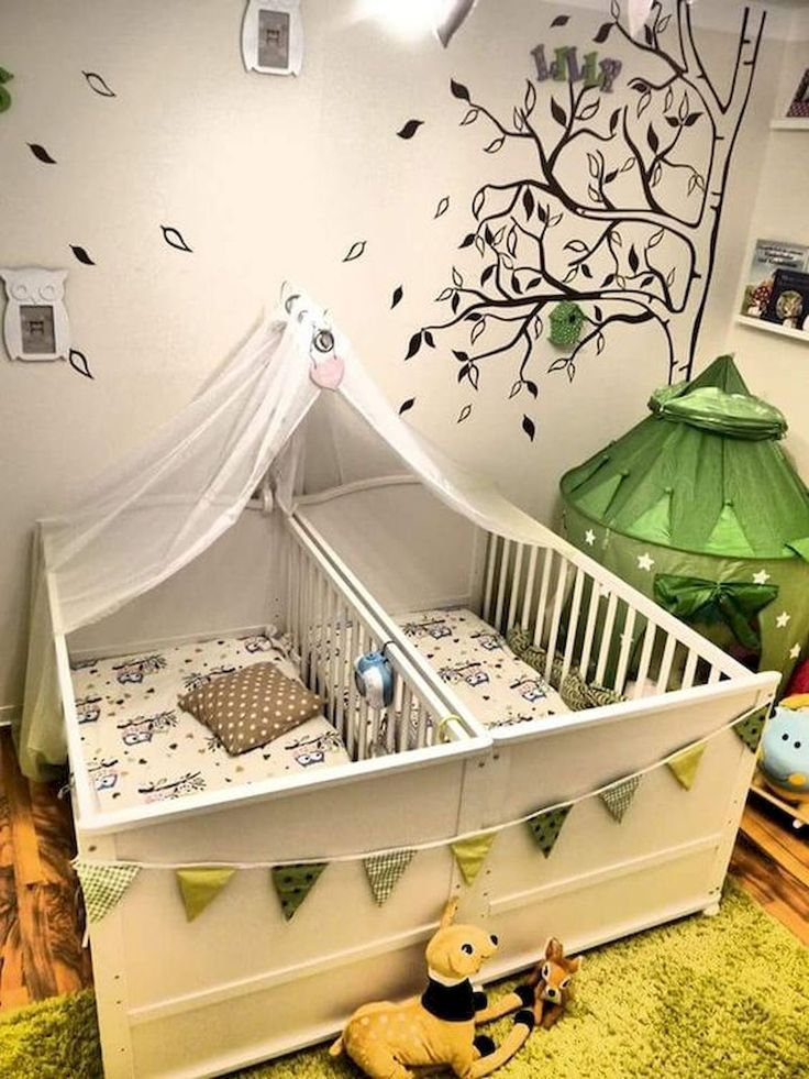 Ideen für Babyzimmer für Zwillinge