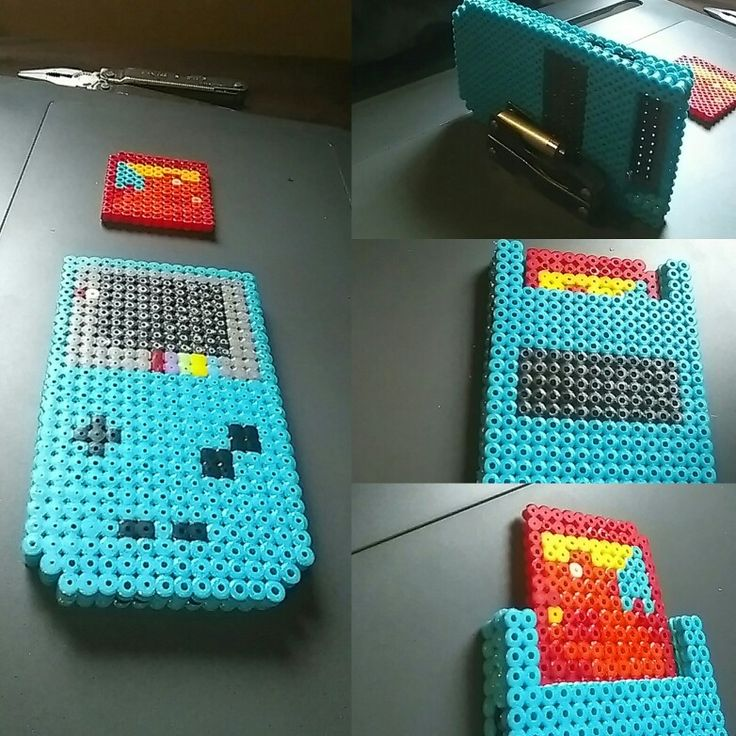 3D life size gameboy color with pokemon red game