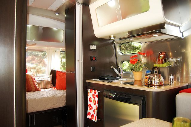 Inside Airstream Bambi by tnkbuzan, via Flickr