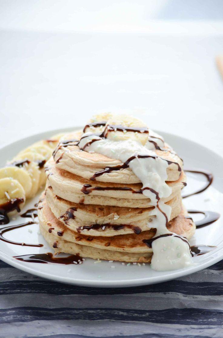 Vegan Birthday Cake Pancakes - Pancake Pfannkuchen Rezept - Squats, Greens & Proteins