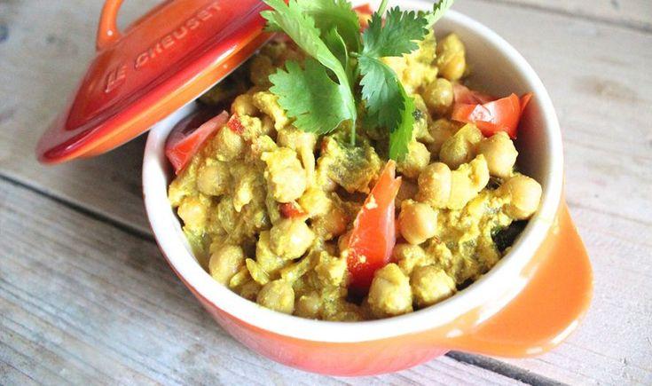Kruidige kikkererwten-curry. Easy&Delicious
