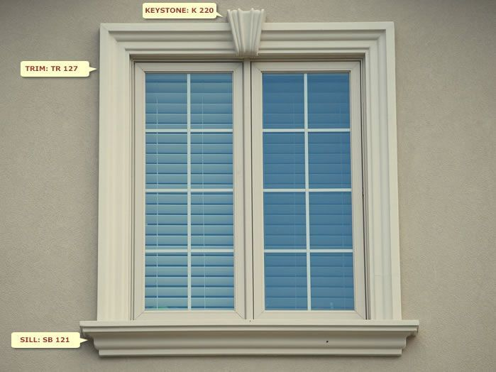 Best 25 exterior window trims ideas on pinterest for Exterior keystone molding