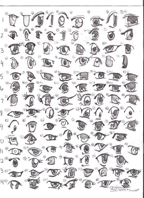 Teknik-teknik Dasar Menggambar Anime untuk Pemula | Gambar mata ...