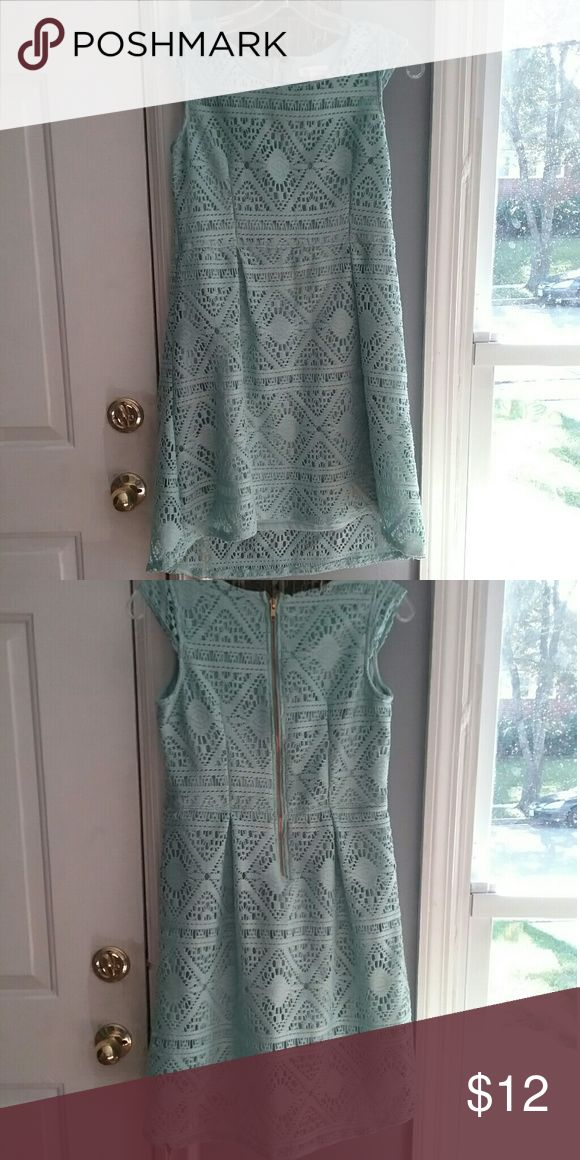 Xhilaration Turquoise Lace Dress -Xhilaration  -Lace -Size 14/16 XL -Torquise -Cute Xhilaration Dresses Formal