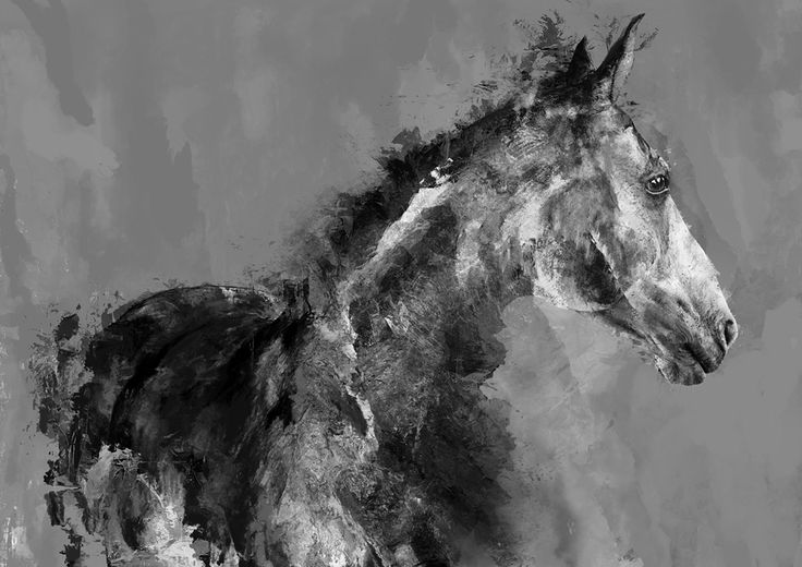 Horse 01 - digital art, created by Magdalena Dymańska