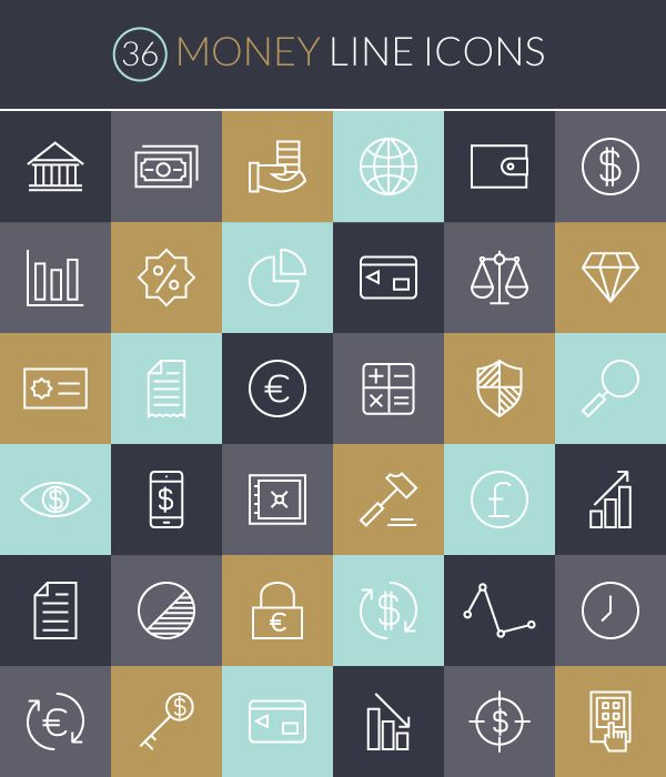 Download 36 icons perfect for finance design—free!