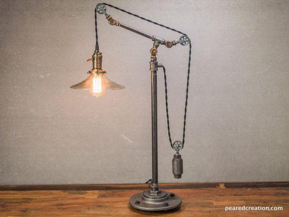 1000 id es propos de lumi re de poulie sur pinterest luminaires rustiques clairage de. Black Bedroom Furniture Sets. Home Design Ideas