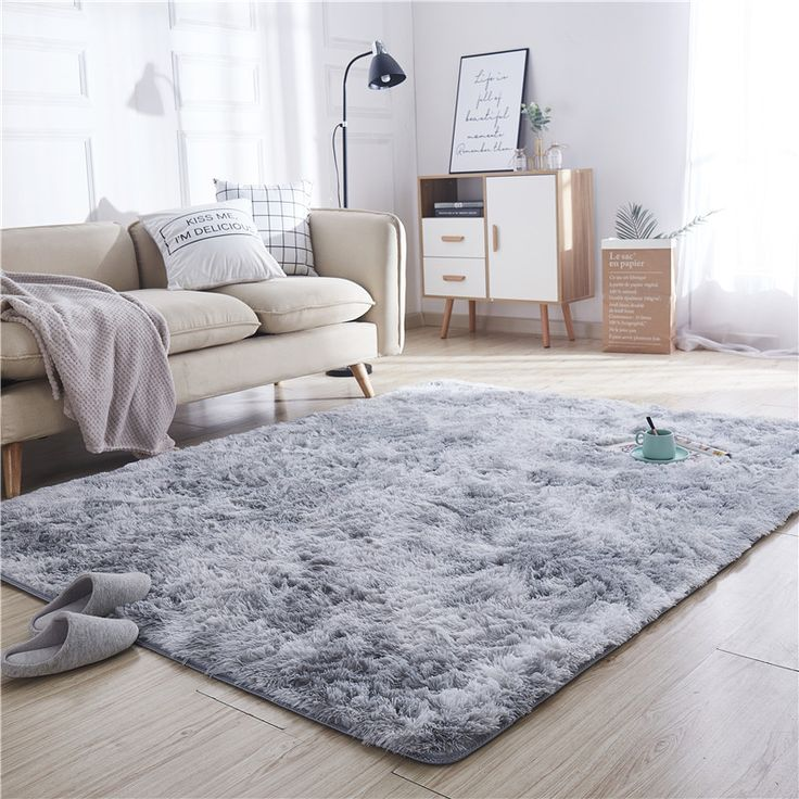 Living Room Sofa Plush Area Rugs, Soft Area Rugs For Living Room