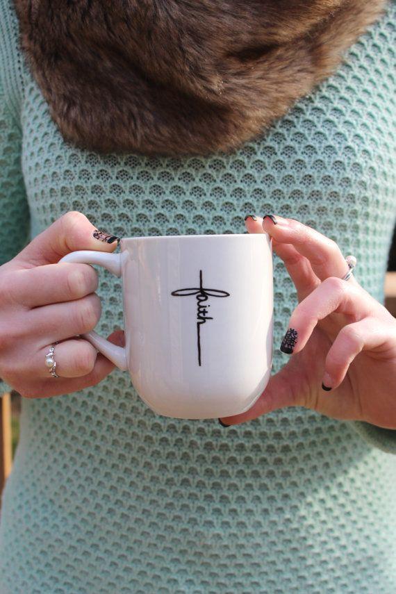 Christian mug mug white mug faith mug christmas gift by WhimsyBleu