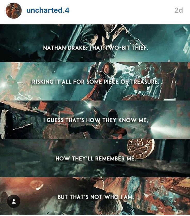 Uncharted 4 lol I'm friends with uncharted.4 n Instagram... (I'm ratchet.and.clank lol)
