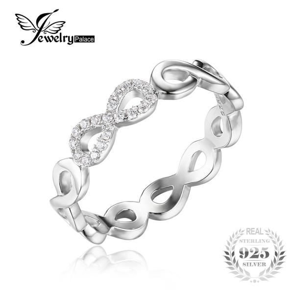 FuzWeb:JewelryPalace Infinity Forever Love Anniversary Promise Ring Pure 925 Sterling Silver Jewelry For Women Gift