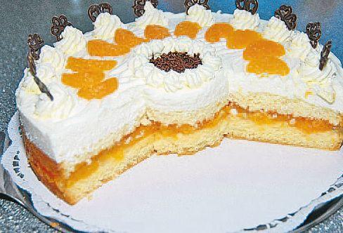Quark-Mandarinen-Torte