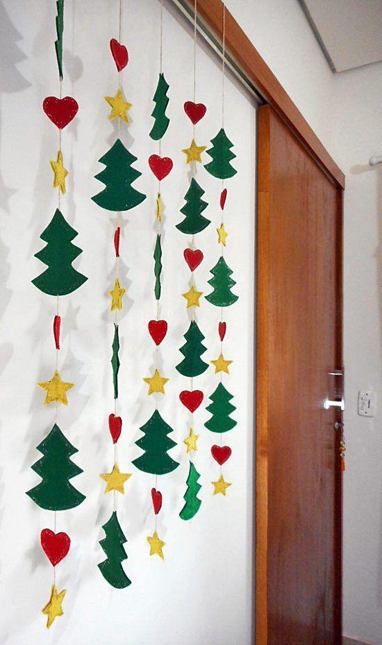 lembrancinha de natal com cortina de artesanato