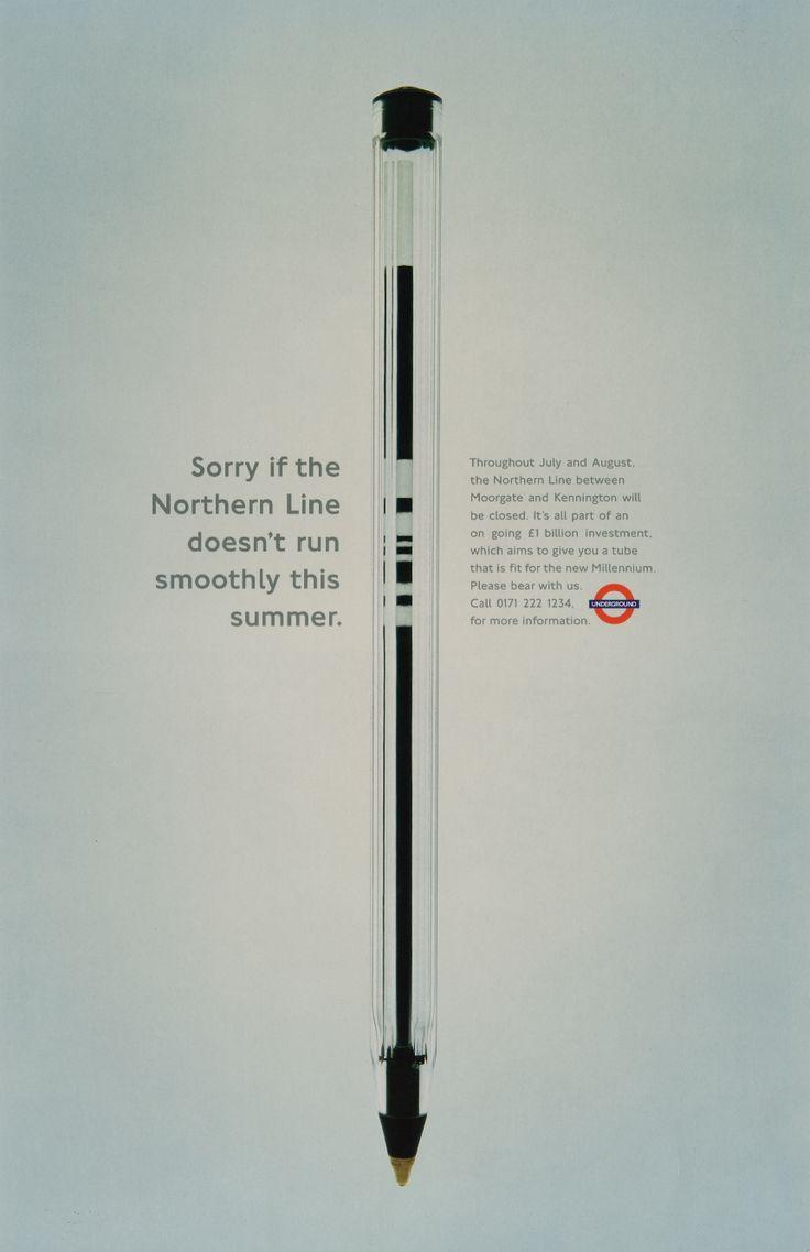 Pen, London Transport; Art Director; Dave Dye, Writer; Sean Doyle