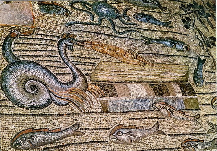File:Aquileia - Basilica - Giona gettato sulla spiaggia (esposizione 33).jpg