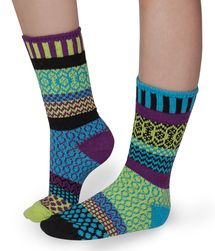 Equinox design odd-socks by Solmate. Made from recycled cotton.