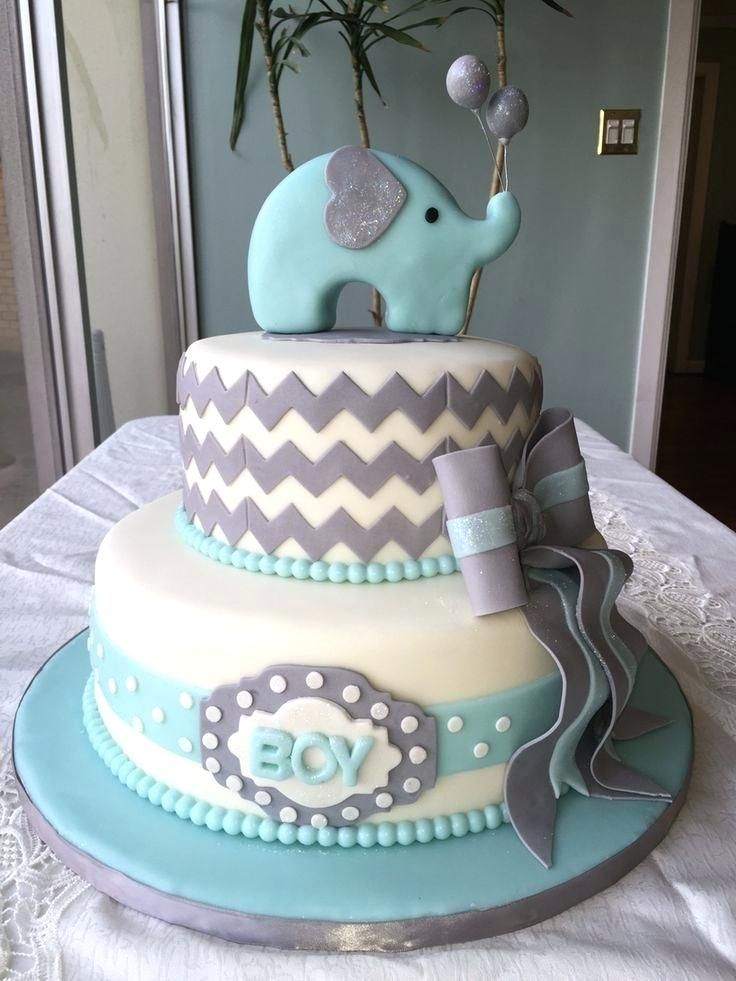 Baby Shower Cake Ideas Elephant Best On Boy Theme Elephant Baby