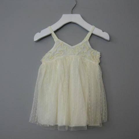 Eliane et Lena Ecru Alaia Dress - Size 18m, 2, 3, 4
