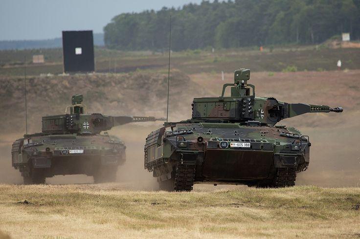 Two German Puma IFV on a range [1024  683]