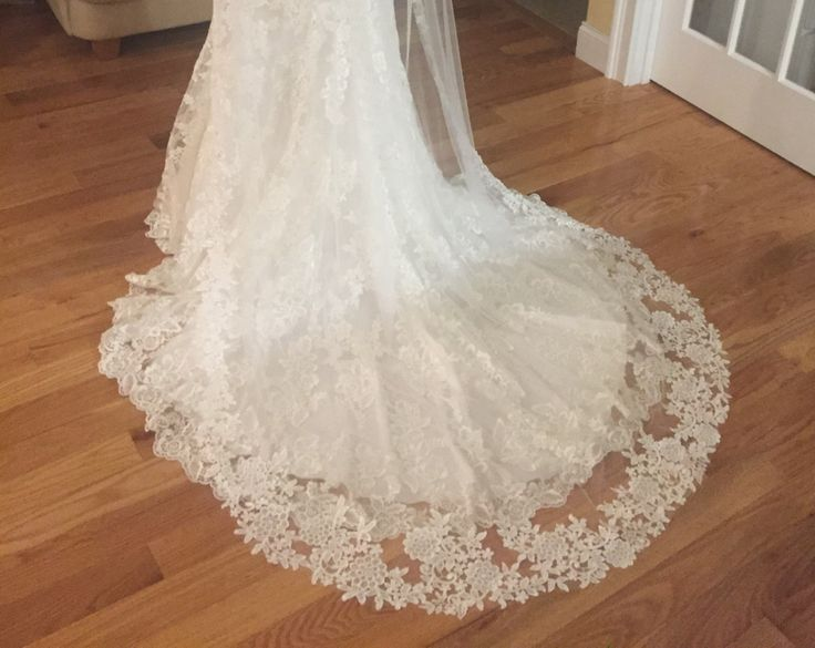 Venice Cathedral Wedding Veil, One Tiers Cathedral Veils, Wedding Veil, Veils, Wedding Custom Made Veil, Custom Bridal Veils, READY TO SHIP by LTCoutureAtelier on Etsy