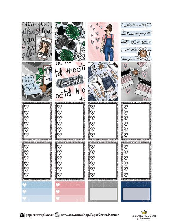 50% OFF SALE / Outfit Of The Day Weekly от PaperCrownPlanner