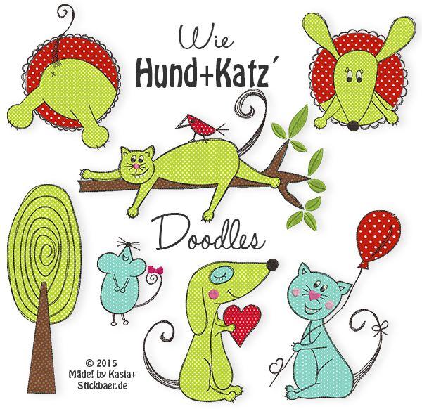 Como perro y Katz 'Doodles