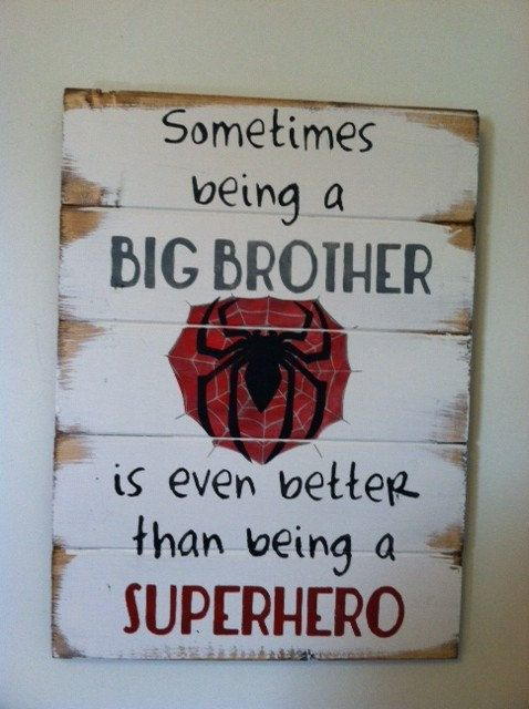 Spiderman symbol  Sometimes being a big brother is by OttCreatives, $47.00