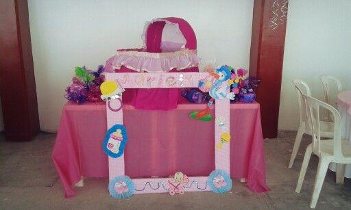 Mesa de regalos para baby shower girl decoracion pinterest mesas babies and showers - Decoracion para regalos ...