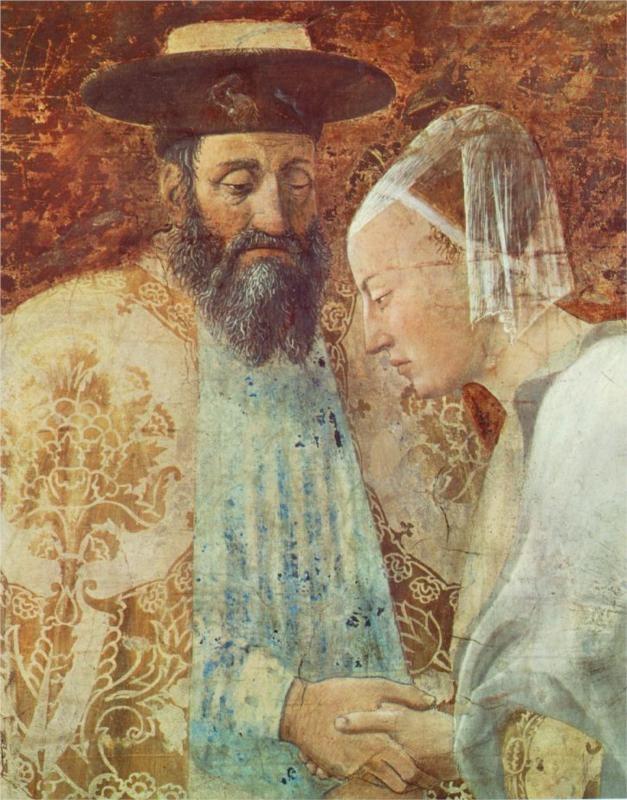 Meeting between the Queen of Sheba and King Solomon (detail) Piero della Francesca