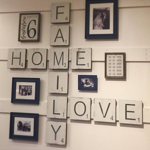 Large Letter Tiles for the wall . Home Decor . Gallery Wall . Scrabble Tiles for…