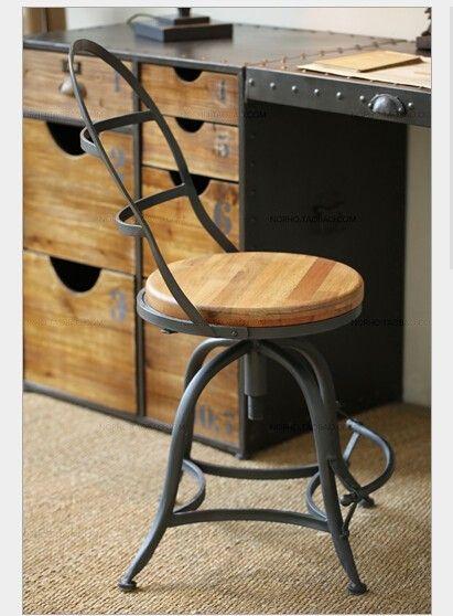Американский кантри восстановление древних путей, кованого железа дерева ржавчины сделать старый барный стул восстановление древних путей, принадлежащий категории Барные стулья и относящийся к Мебель на сайте AliExpress.com | Alibaba Group