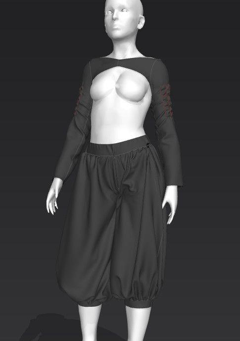 ArtStation - 3D Samurai Sketch, Ryan Andrade