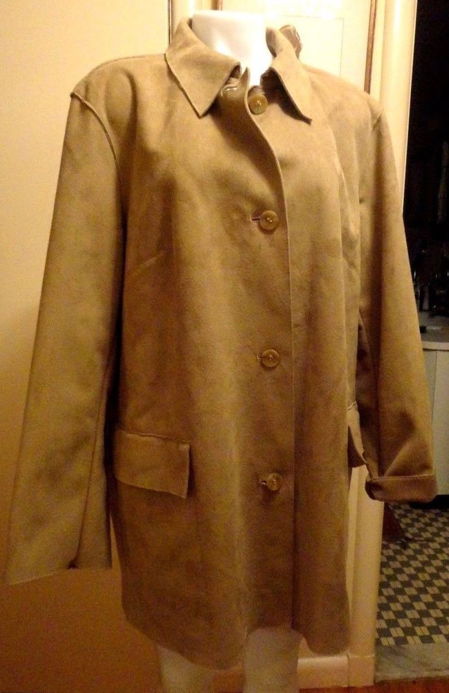 PREOWNED BEIGE Faux Shearling Coat by Designer Harve' Benard  Sz-14 - AWESOME #HarvBenard #BasicCoat