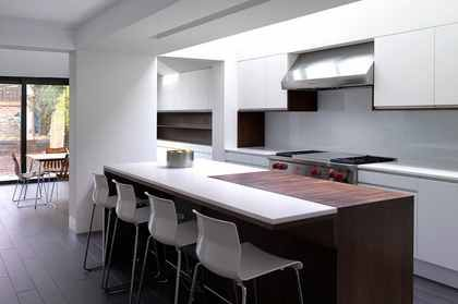 leave a section of rear kitchen wall or rear dining room wall in?