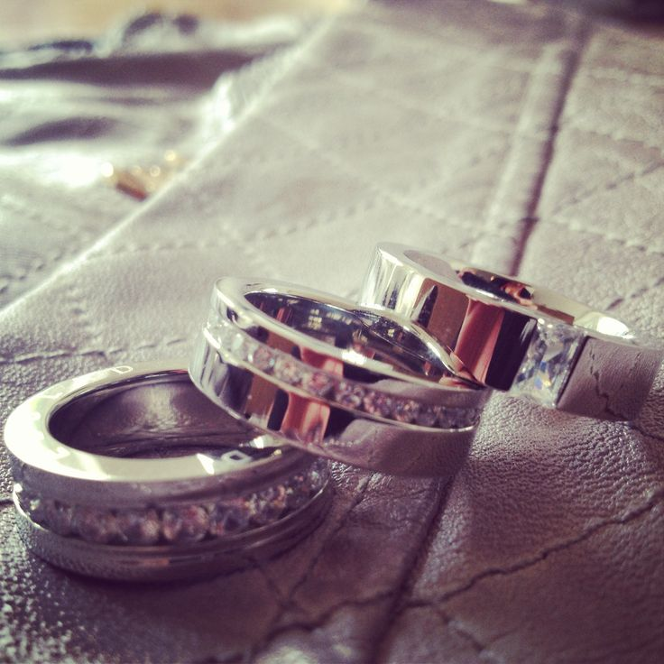 Edblad stainless steel stacking rings & grey faux leather jacket. The perfect combination!