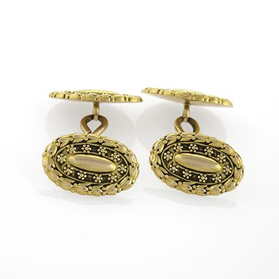 Tiffany & Co. Antique Gold Cuff Links.