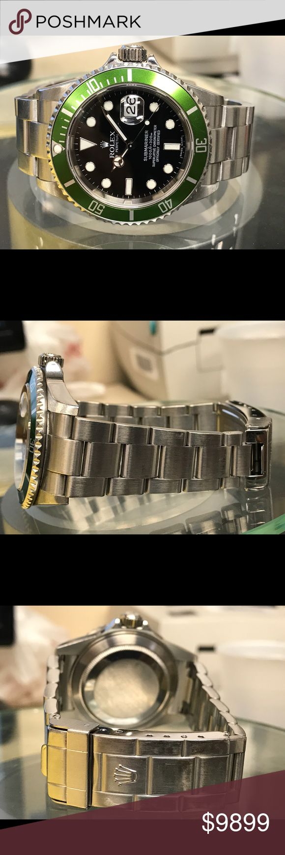Rolex submariner anniversary steel automatic watch This is preowned near to mint  stainless steel rolex Submariner anniversary automatic men;s watch. Date display, rotational bezel.  Item id- 17297 Rolex Accessories Watches