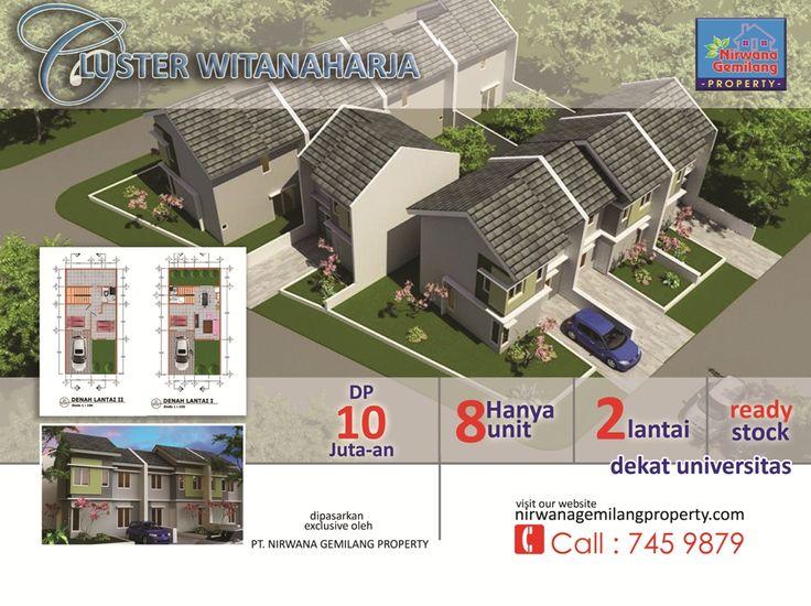 Perumahan witanaharja Pamulang merupakan lokasi strategis di Tangerang selatan, ada satu cluster yang terdiri dari 8 unit rumah 2 lantai yang dibangun didalam area perumahan witanaharja