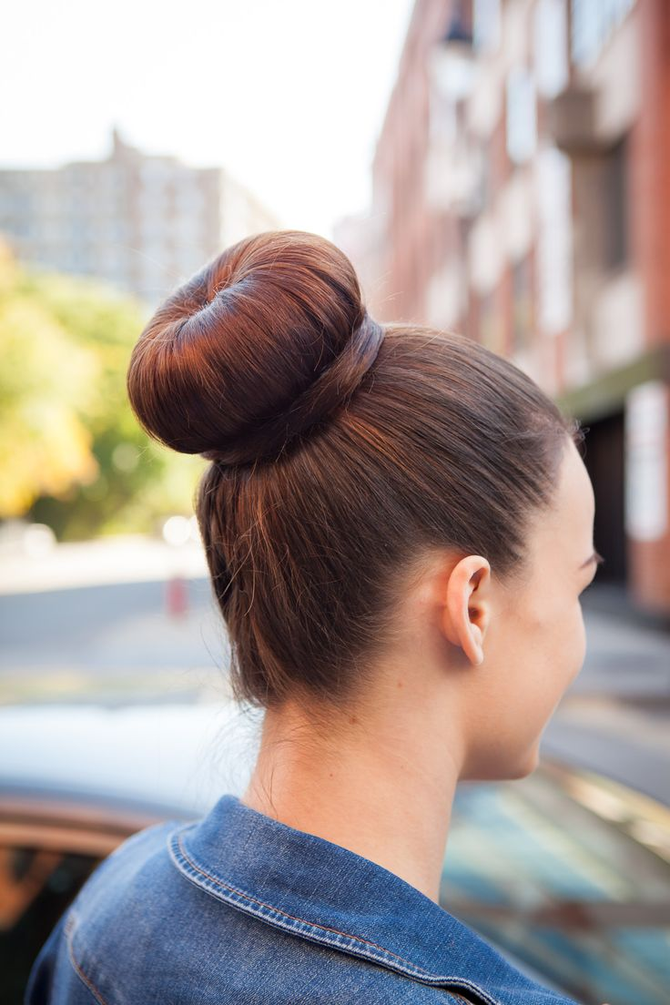 Rock an effortless and simple bun.