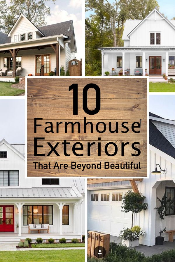 10 Seriously Inspiring Farmhouse Exteriors The Unlikely Hostess Modern Farmhouse Exterior Farmhouse Exterior Colors White Farmhouse Exterior